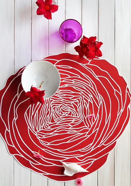 cut paper centerpiece