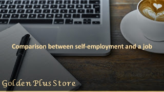 Comparison between self-employment and a job