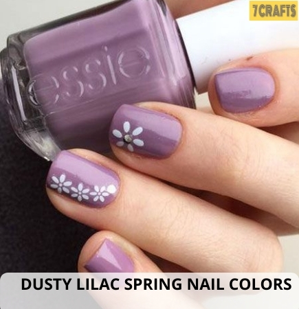 DUSTY LILAC Spring nail art