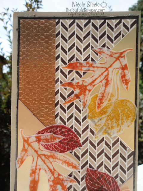french foliage, handmade birthday card, fall card, birthday cards for men, stampin' up!, metallic paper, slimline cards, nicole steele, the joyful stamper, independent stampin' up! demonstrator, pittsburgh pa