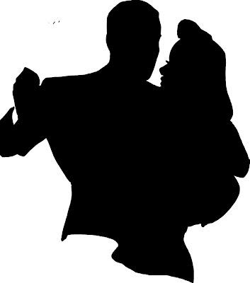 Metamora Herald clip art black dancing figures white background clip art