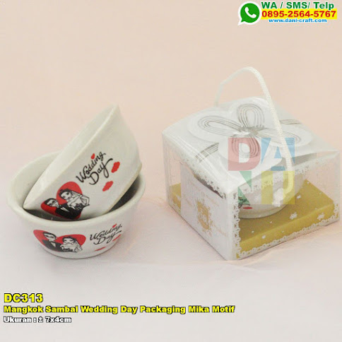 Mangkok Sambal Wedding Day Packaging Mika Motif