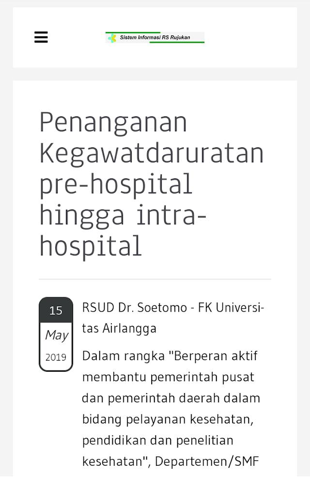 "Webinar : ""Penanganan Kegawatdaruratan pre-hospital hingga intra-hospital"" Rabu, 15 Maret 2019 (13.00-14.30 WIB) RSUD Dr. Soetomo - FK Airlangga Supported by GoToWebinar"