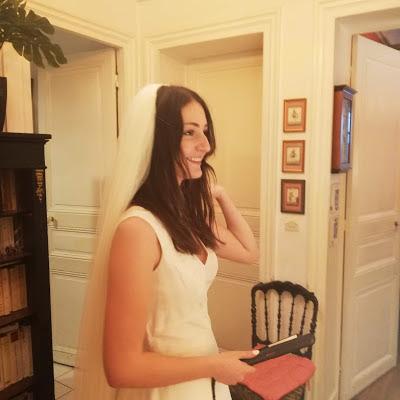 Essayer son voile de mariée