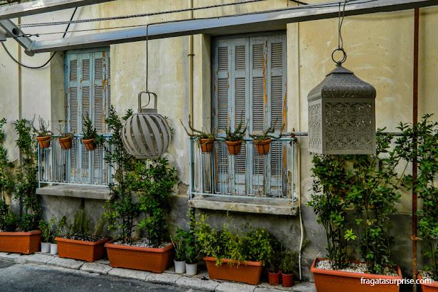 Café na cidade de Nafplio, Pleoponeso, Grécia