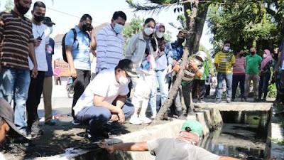 Wlikota Medan Bobby Nasution Tinjau gotong royong massal di Kecamatan Medan Perjuangan