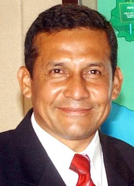 Rostro de Ollanta Humala sonriendo