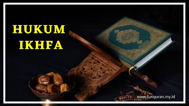hukum bacaan ikhfa syafawi