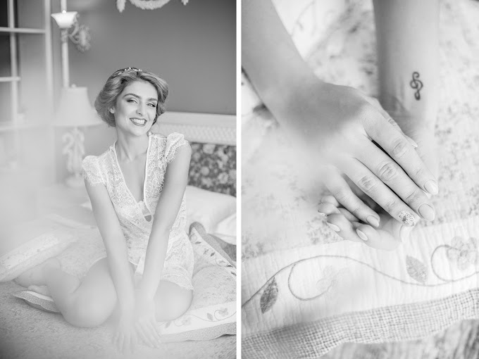 Wedding girl cute smile at home | HD Stock Image