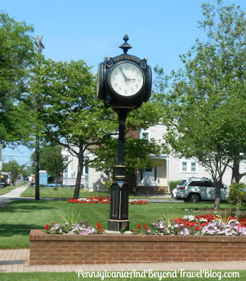 North Wildwood Town Clock in New Jersey - Located in front of City Hall