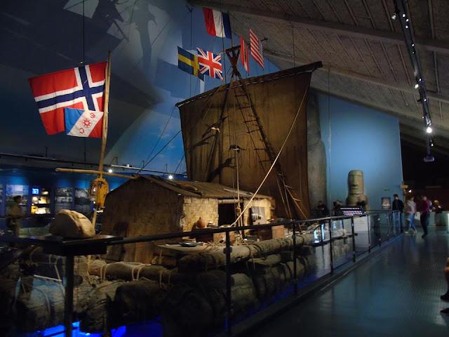 Kon-tiki balsawood raft, kon-tiki museum, oslo, norway