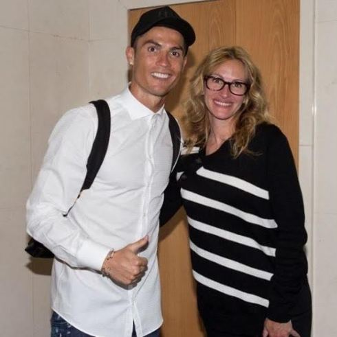 Cristiano Ronaldo meets Julia Roberts (photo)