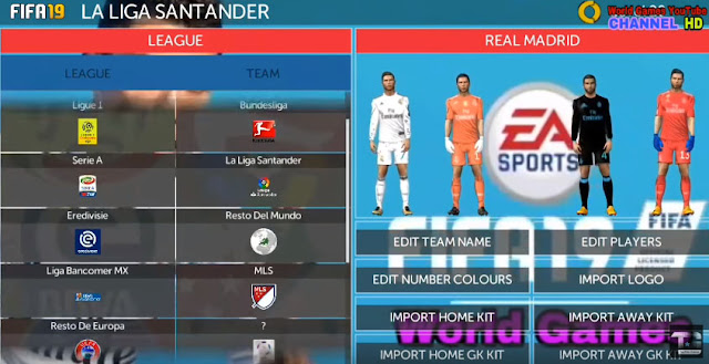FIFA 19 FTS MOD Android Offline 300 MB Full Updated - Micano4u | PES
