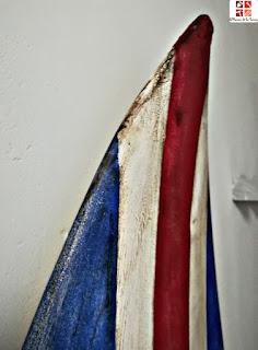 tabla de surf con la bandera inglesa