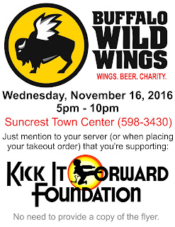 BW3 event flyer (11/16/16)