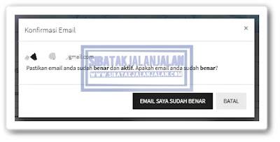 konfirmasi email di halaman simulasi cpns