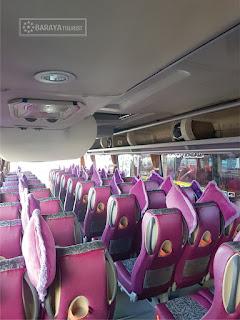 Interior Sewa Bus Pariwisata Bandung Pangandaran