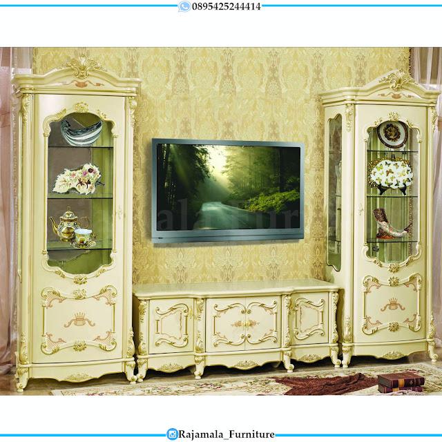 New Set Meja TV Mewah Ukiran Classic Luxury Furniture Jepara RM-0512