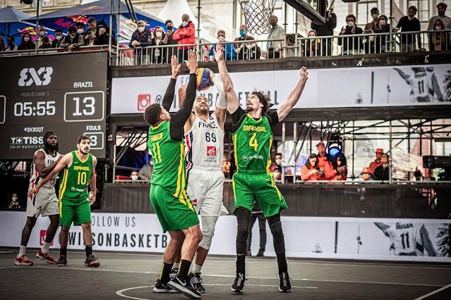 Jefferson Socas e Fabrício Veríssimo foram bons nomes do Brasil no Pré-Olímpico de basquete 3x3