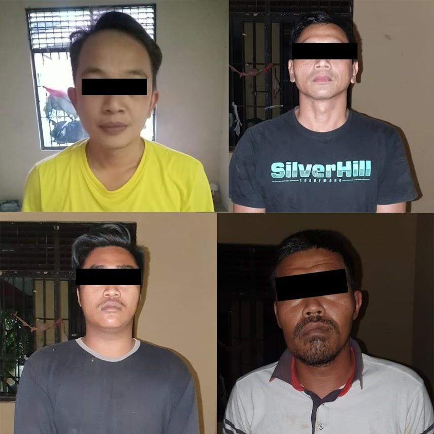 4 Budak Sabu Di Ringkus Satresnarkoba Polres Lamandau