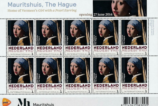 Netherlands 2014 Painting Vermeer Girl With a Pearl Earring Sheet