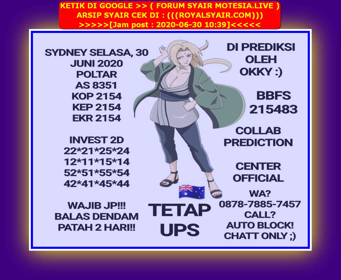 Kode syair Sydney Selasa 30 Juni 2020 42