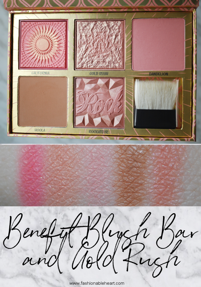 bblogger, bbloggerca, canadian beauty blogger, beauty blog, benefit, benefit cosmetics, chapters, sephora, box o' powder, boxed powder, box blush, blush, galifornia, gold rush, dandelion, hoola, rockateur, pale, fair skin, peach, scent, contour, blush bar, limited edition, blush palette, swatches, product review