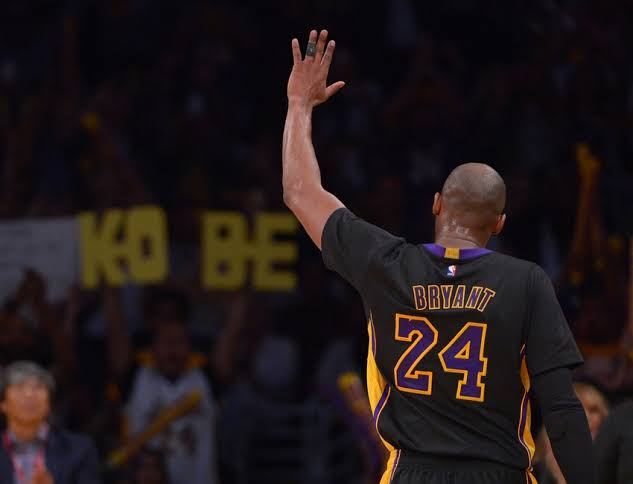 #24 Kobe Bryant waiving NBA Star player legend