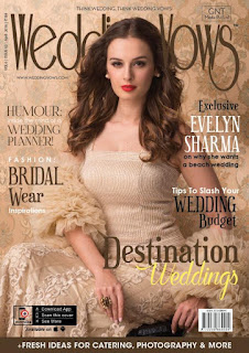 Evelyn Sharma elegantly beautiful on the Cover Page of Wedding Vows magazine April 2016
