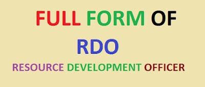 full form of rdo