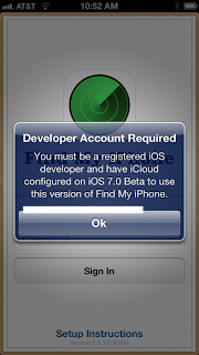 Apple issues a fix for its botched up update of Find My iPhone App which didn't let normal users use it