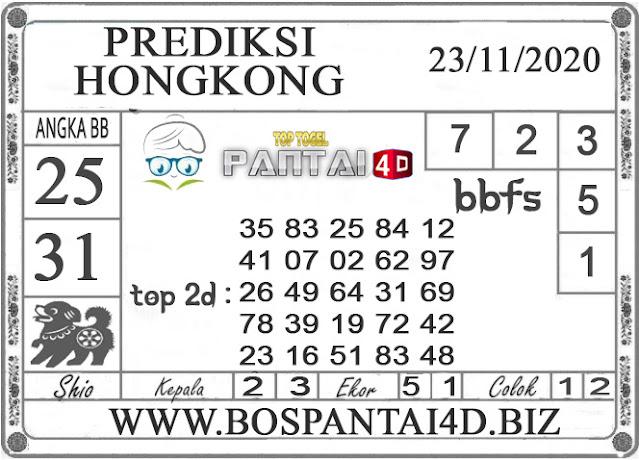PREDIKSI TOGEL HONGKONG PANTAI4D 23 NOVEMBER 2020