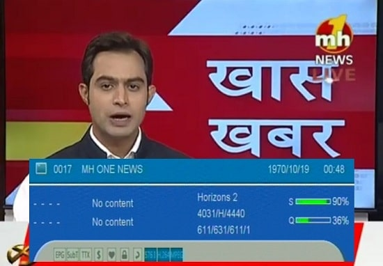 Mh One News Channel available on GSAT 30 Satellite