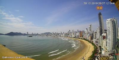 Câmera ao vivo da Praia de Balneário Camboriu