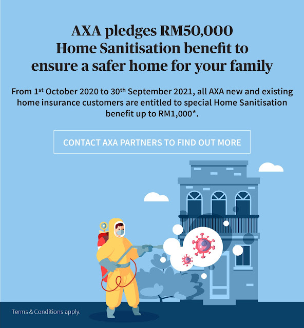 AXA Home Sanitisation Benefits RM 50k