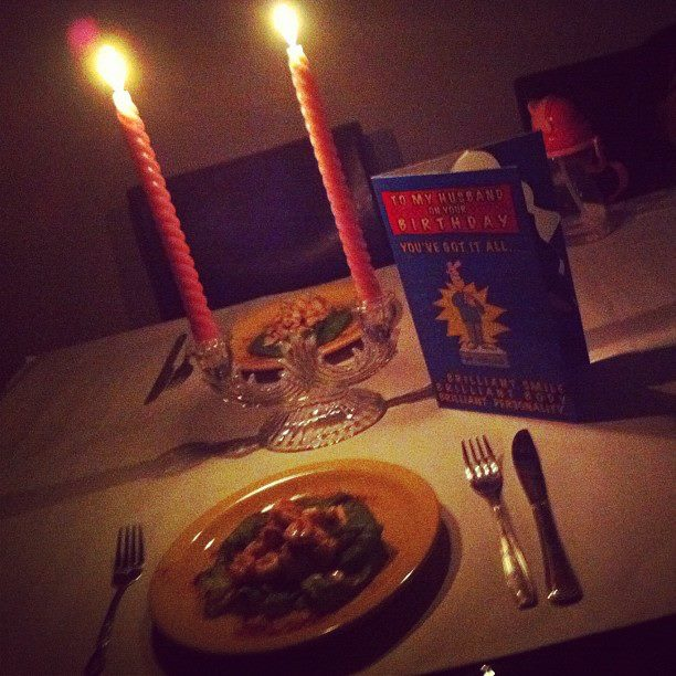 Candle Light Dinner At Home