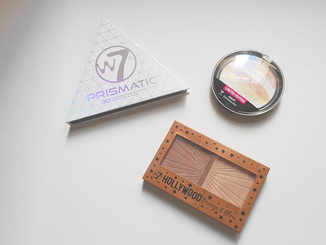 9a5f9a44d Prismatic 3D W7, Rainbow Highlighter Wet n Wild, y Hollywood Bronze & Glow  W7: 3 formas diferentes de brillar.