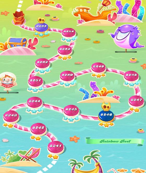 Candy Crush Saga level 8241-8255