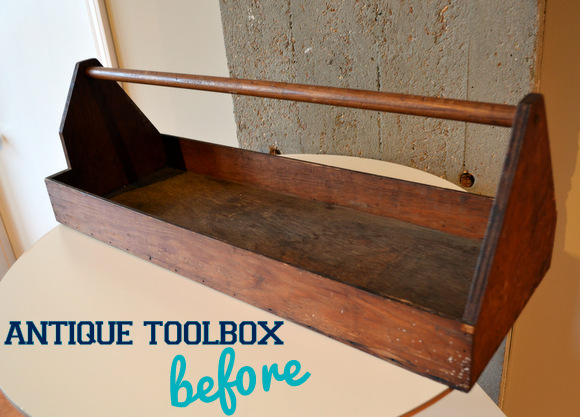 before Picture Antique Toolbox Makeover | DIY Playbook