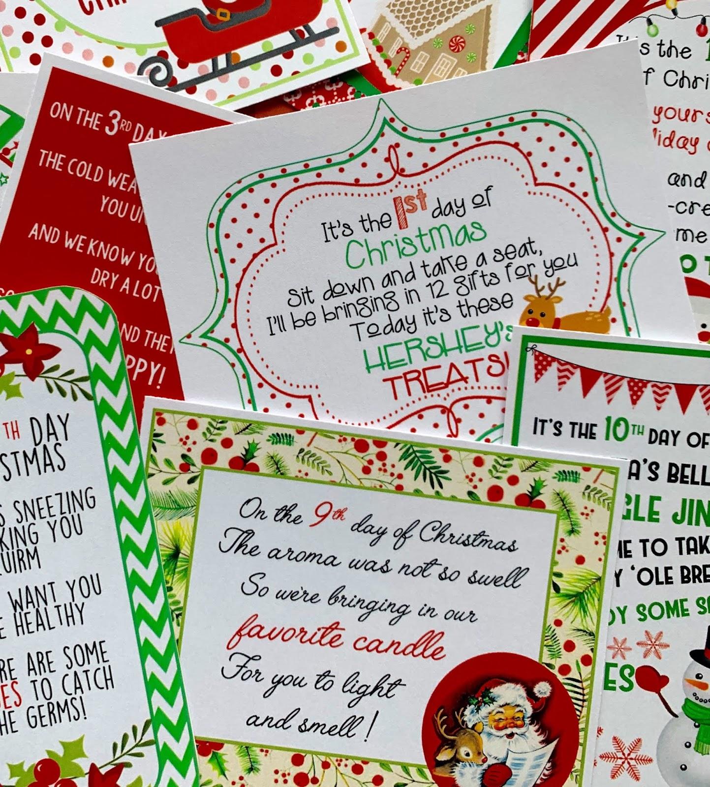 New 12 Days Of Christmas Printables