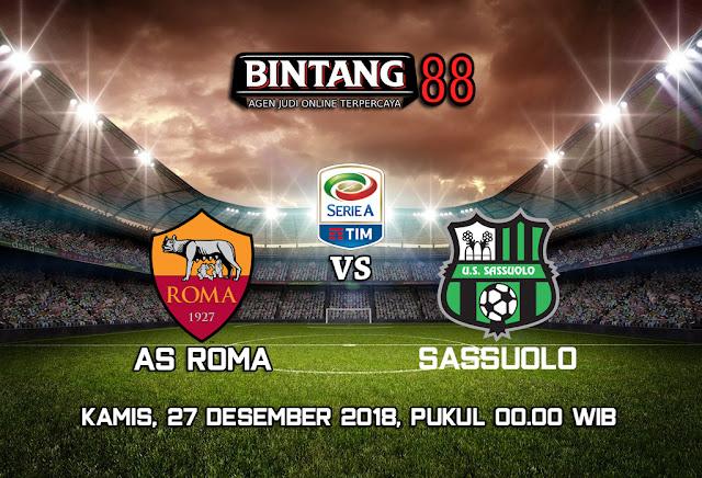 Prediksi AS Roma vs Sassuolo 27 Desember 2018