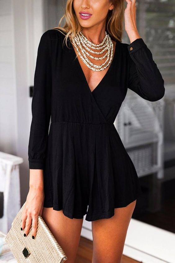 Black Romper #Summer Outfit Wear to Try