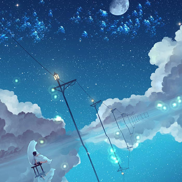 The Boy And The Night Sky Wallpaper Engine