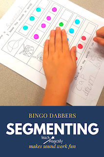 bingo dabbers for segmenting on Worksheet from Debora Marines Teach Magically