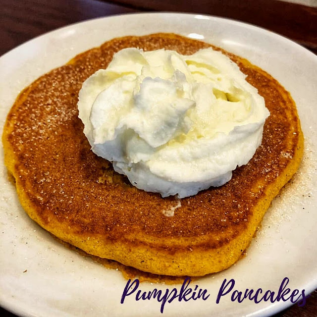 Pumpkin Pancakes bring the comfort of fall at WynBurg Cafe.