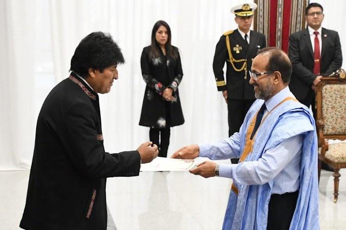Evo Morales recibe al nuevo embajador saharaui en Bolivia