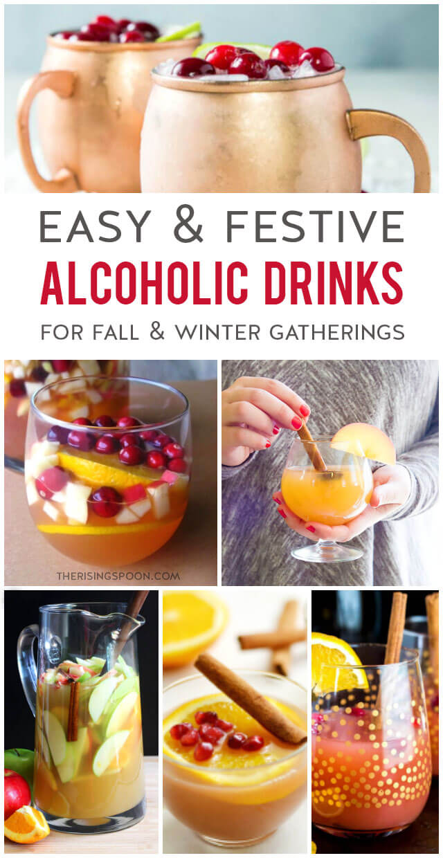 Easy & Festive Alcoholic Drinks To Pair with a Fall Charcuterie Board & Holiday Appetizers