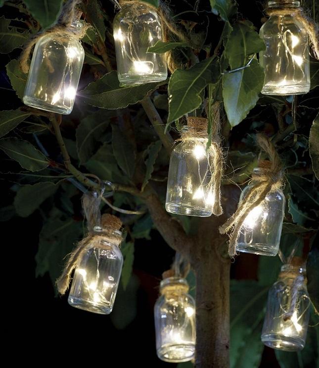 Fancy Mason Jar Solar Lights