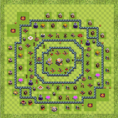 War Base Town Hall Level 11 By Noldy Katili (Noldy TH 11 Layout)