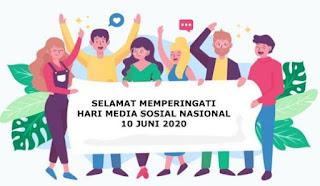 ucapan hari media sosial nasional 10 juni 2020 - facebook